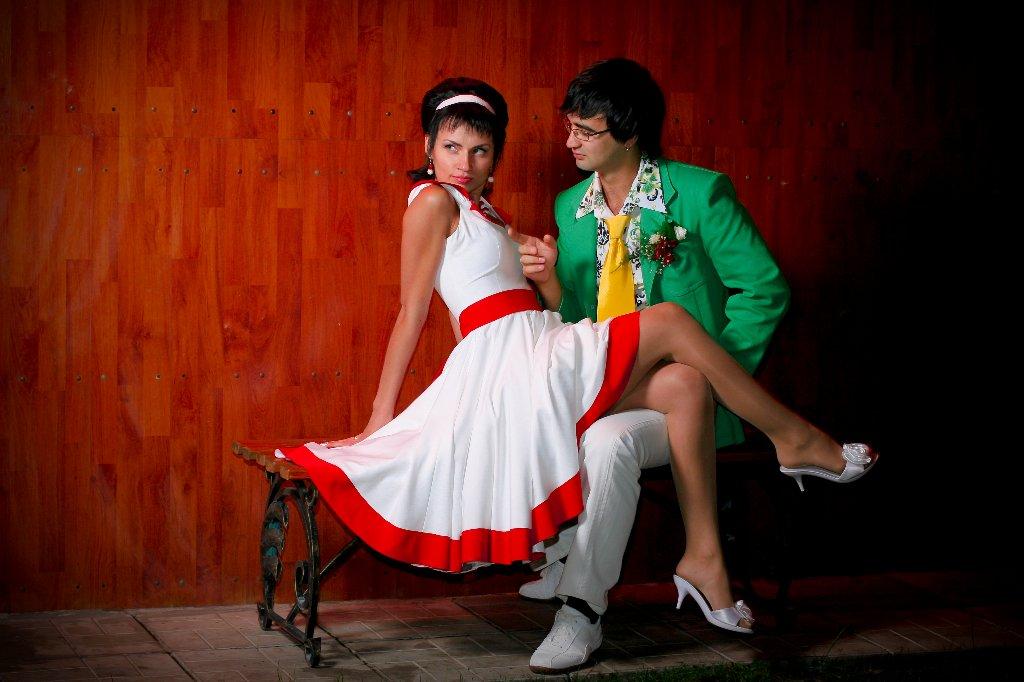 фото свадьба стиляги